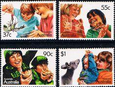 Australia 1987 Aussie Kids Set Fine Mint SG SG 1086/9 Scott 1040/3 Other Australian Stamps HERE