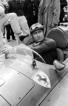 Juan Manuel Fangio in Ferrari repinned by www.gorara.com