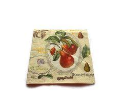 serviette papier motif poires