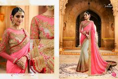 Designer pure Georgette heavy embroidery bridal saree ..For orders contact 9179504192