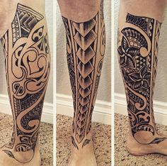 New Polynesian Ethnic Tattoo 2016 At Leg Tattoos  #Polynesian #Ethnic #Tattoo…                                                                                                                                                                                 More