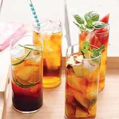 You don't have to add any sugar to this drink. Ripe peaches give the tea its tangy and sweet flavors. | Health.com