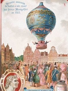 early balloon flight - the one from 1783. John Adams and Thomas Jefferson were reportedly in attendance.