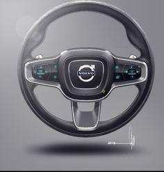 Volvo Concept Coupe   Interior    Steering Wheel Design Sketch