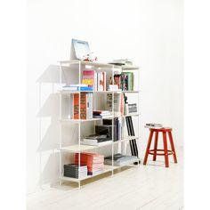 Knihovna One - bílá, 149x144 cm   Bonami