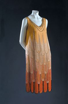 Dress by Paul Poiret, 1920s. I would love to wear this at a Great Gatsby party!