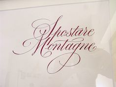 very nice calligraphy by Luca Barcellona