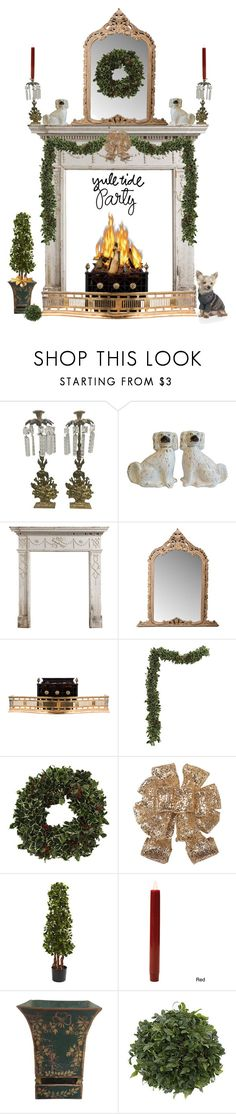 """""""Holly Day"""" by susanelizabeths ❤ liked on Polyvore featuring interior, interiors, interior design, home, home decor, interior decorating, Home Decorators Collection, Boston Warehouse, Ralph Lauren Home and HolidayParty"""