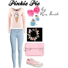 """""""Pinkie Pie Outfit, My Little Pony inspired"""" by roses-s on Polyvore"""
