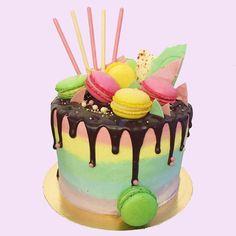 Pastel Pixie Rainbow Cake by Anges de Sucre #christeningcakes
