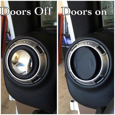 Cheap Jeep Hack! Cheap blindspot mirrors for when the doors are off. Spin the vent when the doors are on to hide them!
