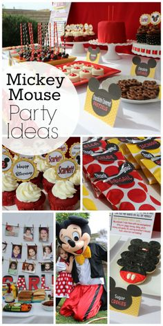 So many fun Mickey Mouse girl birthday party ideas! See more party ideas at CatchMyParty.com