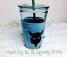 Coffee Tea Travel Mug Viking light blue To Go Felt Cozy by RBQuery