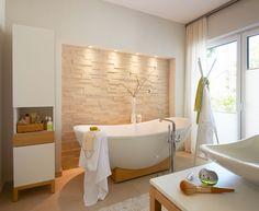 #Viebrockhaus Edition 500 B #WOHNIDEE-Haus - Ein #Bungalow mit frischen Wohnideen - #Badewanne