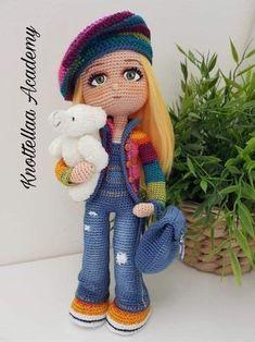 Mesmerizing Crochet an Amigurumi Rabbit Ideas. Lovely Crochet an Amigurumi Rabbit Ideas. Crochet Dolls Free Patterns, Crochet Doll Pattern, Amigurumi Patterns, Amigurumi Doll, Doll Patterns, Crochet Toys, Love Crochet, Crochet Baby, Knitted Animals