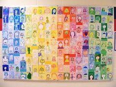 school portrait mural