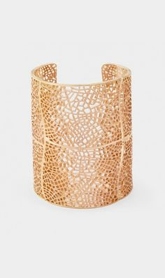 Metal Lace Cuff - Gold