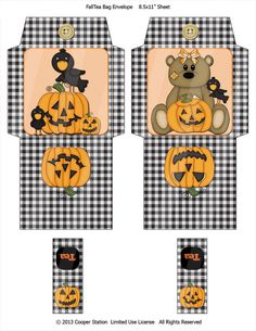 Halloween Magic, Halloween Labels, Halloween Party, Easy Christmas Crafts, Simple Christmas, Pumpkin Tea, Autumn Tea, Bag Toppers, Fall Pumpkins