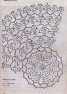 Picasa Web Albums - crochet pattern diagram for what is obviously a doily but I like it for a poncho or a baby girl's dress skirt
