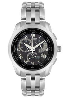 Men s Calibre 8700 Eco-Drive Multi-Function Stainless Steel Citizen Eco 90b4012026