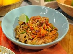 Get Chicken Ramen Stir-Fry Recipe from Food Network...can sub udon noodles