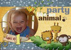 Customizable #birthday invitation animal themed #party!
