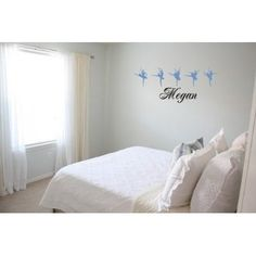 Amazon.com: Personalized name with Ballet dancers vinyl wall decal: Home & Kitchen
