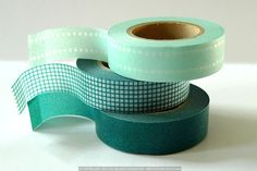 Pretty+Basic+Colors+Washi+Tape+MINT+-+Dot+Grid+Solid $8.25