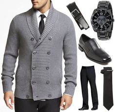 My New Year's attire. Guess I'm heading to Zappos for the Shawl Collar Cardigan