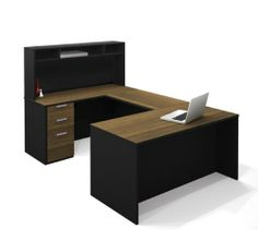 bestar 110861 98 pro concept u shaped workstation with small hutch and assembled bestar office furniture innovative ideas furniture