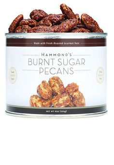 Burnt Sugar Pecans, from Hammond's Candies. 9 ounces.