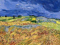 Vincent van Gogh Wheat Fields painting for sale - Vincent van Gogh Wheat Fields is handmade art reproduction; You can buy Vincent van Gogh Wheat Fields painting on canvas or frame. Vincent Van Gogh, Van Gogh Landscapes, Landscape Paintings, Van Gogh Arte, Field Paint, Art Van, Impressionist Artists, Van Gogh Paintings, Dutch Painters