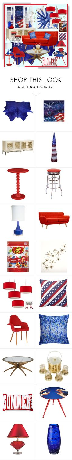 """""""Happy 4th of July! Happy Birthday America!"""" by calamity-jane-always ❤ liked on Polyvore featuring interior, interiors, interior design, home, home decor, interior decorating, Adeco, Retrò, Couture Lamps and Dot & Bo"""