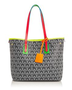 Marlborough Limited Edition Iphis Printed Canvas Tote Bag, Neon  by Liberty London at Neiman Marcus.