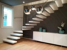 Home Stairs Design, House Design, Minimalist Living Room Furniture, House Stairs, Modern House Plans, My House, Sweet Home, Modernism, Interior Design