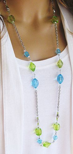 long beaded necklace - - Yahoo Image Search Results
