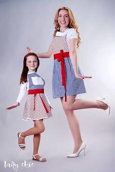 Lallychic / zástery pre mamu a dcéru Naty
