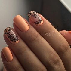 Great gallery of unique nail art designs of for any season and reason. The best images and creative ideas for your nails. Any color gamma. Fancy Nails, Diy Nails, Cute Nails, Pretty Nails, Fabulous Nails, Gorgeous Nails, Orange Nails, Flower Nails, Creative Nails