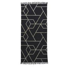 House Doctor Vloerkleed 90 x 200 cm - Zwart/Wit