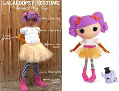 living with threemoonbabies: Lalaloopsy Costume Tutorial