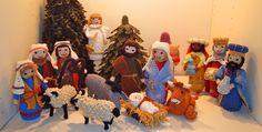 Crochet nativity scene