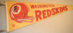 Vintage Washington Redskins Pennant - Vintage Football - Antique Football - Vintage Sports - Antique Football - NFL on Etsy, $30.00