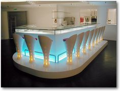 Corian Bar Ideas, Pictures, Remodel and Decor Dupont Corian, Bar Image, Tap Room, Restaurant Interior Design, Bar Lounge, Solid Surface, Cool Bars, Restaurant Bar, New Homes