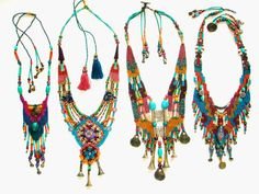 colorful tribal necklaces