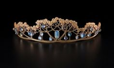 Tiara of horn and moonstone made by FJ Partridge for Liberty & Co, England, c.1900