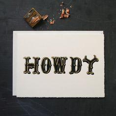 @Meg Howdy a cute card for you