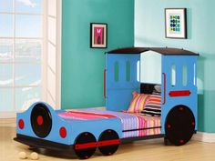 Blue Train Twin Bed