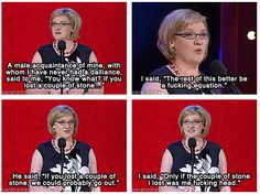 When she came out with this perfect response to an idiotic chat-up line. | 21 Times Sarah Millican Was Each And Every Woman