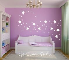 White Stars Wall Decal Shape Disney Magical Wind Fairy Sparkle Shimmer 2 sizes by GetCreativeStudios on Etsy