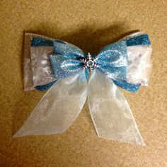 Elsa (Frozen) Inspired Bow by TaylorsThingamabobs on Etsy, $9.00